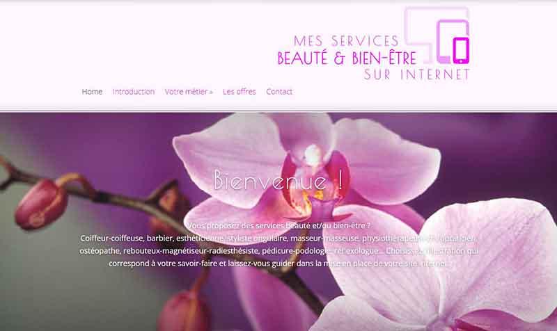 homepage mes services beauté sur internet